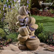 serenity cascading tipping pots stone