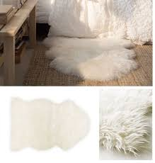 ikea tejn faux sheepskin rug super soft warm cozy could be dd window treatments blinds