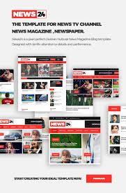 Website Template Newspaper News24 Responsive Newspaper And News Magazine Template