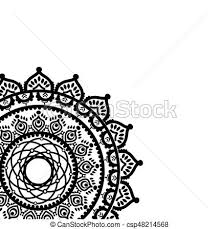 Asian Dream Catcher Asian culture and henna tattoo inspired partial mandala in clip 43