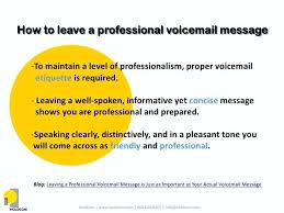 Professional Phone Message Examples 6 Voicemail Email Signature