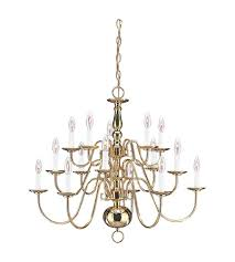 sea gull 3414 02 traditional 15 light 31 inch polished brass chandelier ceiling light