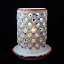 Decorative Candle Holders Decorative Candle Holder Home Decor Lantern White Ceramic