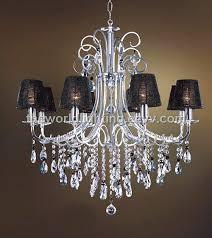 aq0209 8 black fabric cover big crystal decoration glass chandelier china