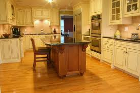 custom kitchen with thick maple countertops
