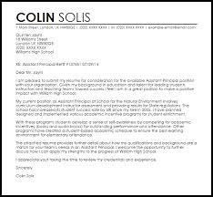 Principal Cover Letter Assistant Principal Cover Letter Sample
