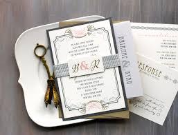 Art Deco Wedding Invitations Modern Gold And Silver Wedding