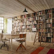 amazing office space. Bookshelves Ladder Rustic Floors And Vintage Chairs Visions For The Converted Garage Studiooffice I Dream Of In Our Next Home Amazing Office Space