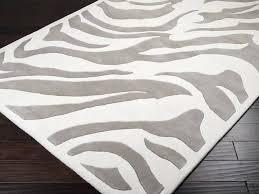 gray zebra rug home design ideas and rugs with idea 4 grey cream fresh decoration inspiring