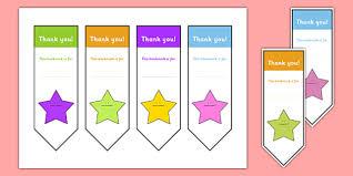 Free Editable Thank You Bookmark Bookmark Bookmark