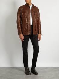 belstaff men jackets oe belstaff trailmaster waxed leather biker jacket brown belstaff