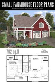 small modern farmhouse plan with a double garage and covered patio