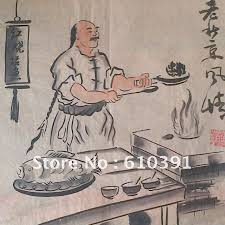 free oriental asian chinese folk art ink painting old beijing style 201 cook fish in painting calligraphy from home garden on aliexpress com