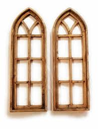 This wall décor presents a farmhouse twist on the windowpane wall decor trend. Farmhouse Wooden Wall Window Arches Set Of 2 Rustic Cathedral Wood Window Pine Woods Arched Wall Decor Frame Wall Decor Frames On Wall