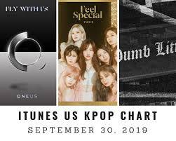 Fly 30 Chart Itunes Us Itunes Kpop Chart September 30th 2019 2019 09 30