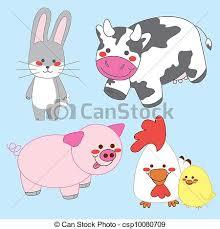 cute farm animals drawings. Contemporary Farm Happy Farm Animals  Csp10080709 And Cute Drawings D