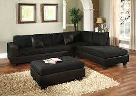 black sectional couches. Delighful Black S0005 Black Microfiber Sectional Sofa On Sectional Couches O