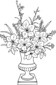 Small Picture Flower Vase Coloring Pages Flower Vase Coloring Page Free Pages Of