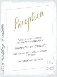 Wedding Reception Invitation Cards Templates Luxury Invite Wording