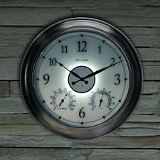 outdoor wall clocks with temperature and humidity