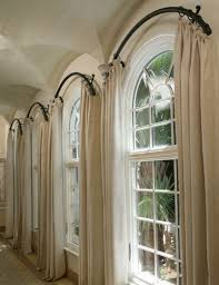 These staggered sheers are a great way to draw attention to the  architectural interest of the windows. |  Styling / Vignette / Details |  Pinterest ...