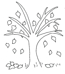 Coloring Sheet Tree Fall Tree Coloring Pages 6 Tree House Colouring