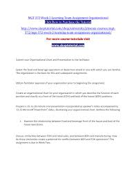 Mgt 372 Week 2 Learning Team Assignment Organizational By