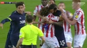 Joe Allen defends Bradley Johnson over 'bite' storm after Stoke City's win  over Derby County