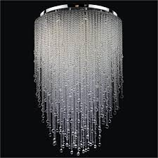 beaded flush mount chandelier crystal rain 566bc36 50sp 7c