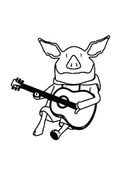 bass coloring pages guitar coloring page the pig playing guitar coloring page bass guitar coloring pages