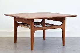 teak coffee table vintage danish