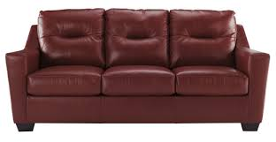 leather sofa bed. Wonderful Bed Dupree Genuine Leather Sofa Bed Red To T