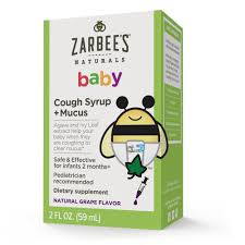 Zarbees Naturals Baby Cough Syrup Mucus Reducer Liquid