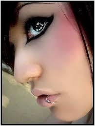 emo makeup blush