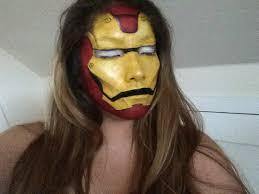 iron man face paint makeup artist insram crisyh