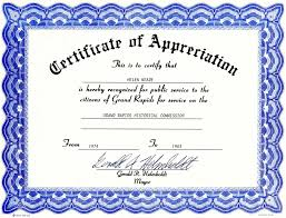 Sample Certificate Of Appreciation Downloadable Template For