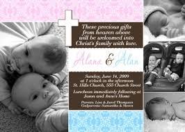 Twin Baptism Invitations Pink Blue Twin Or Combo Baptism Communion Christening Invitation