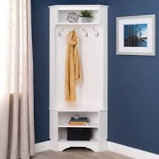 Hat And Coat Rack Stand Coat Rack Corner Hall Tree Hat Stand Cabinet Space Two Shoe Storage 85