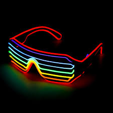 Neon Light Glasses 4 Modes Led Glow El Glasses Party Flashing Festival Neon Wire Bar Party Light Up Goggles