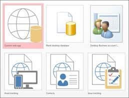 Access 2013 Templates Basic Tasks For An Access Desktop Database Access