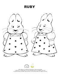 Max And Ruby Coloring Pages Online Of Page Colouring Printable