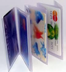 Clear Plastic Wallet Windows Tri Fold Accordion