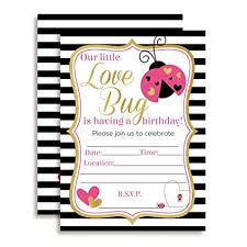 Valentines Day Invitations Extraordinary Amazon Valentine's Day Love Bug Birthday Party Invitations For