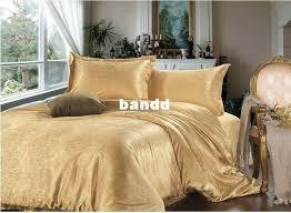 luxury bedding sets 4pcs king size orange duvet cover sets dobby gold bedclothes coverlet silk quilt