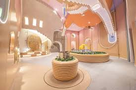 Valley Interiors Design Center Interior Design Of Boguanxian Sales Center Inspired By