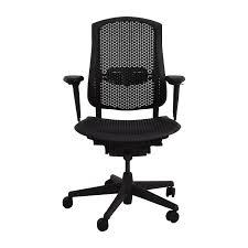 52 Off Herman Miller Herman Miller Biomorph Ergonomic Black Desk Chair Chairs
