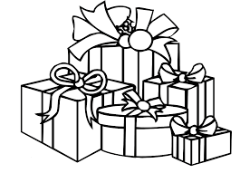 Christmas Coloring Pages Printable Santa With Big Presents In In ...