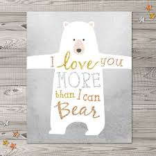 bear nursery wall art instant download 8x10 and 11x14 woodland nursery art glitter nursery art i love you nursery art on bear wall art nursery with 93 best nursery images on pinterest child room nurseries and