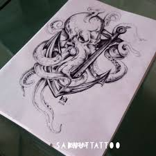 фото эскизы морская тема морская тема в стиле графика татуировки