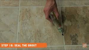 installing ceramic and porcelain floor tile step 16 seal the grout you